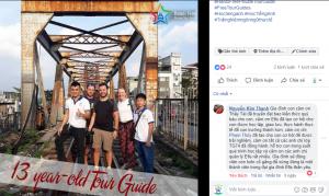 học tour guide năm 13 tuổi