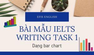 bài mẫu ielts writing task 1 dạng bar chart