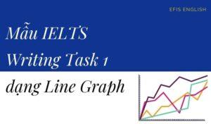 mẫu ielts writing task 1 dạng line graph